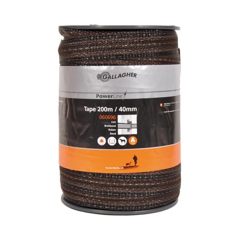 Ruban électrique PowerLine 40mm (terra, 200 mètre) Rubans clôtures électriques