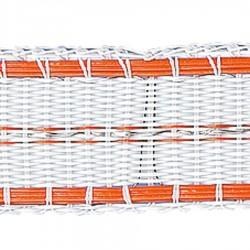 Ruban TurboLine 12,5mm (blanc, 400 mètre) Rubans clôtures électriques