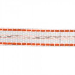Ruban TurboLine 20mm (blanc, 200 mètre) Rubans clôtures électriques