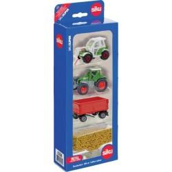 Coffret 4 pièces Siku tracteurs et matériels agricoles Tracteurs miniatures