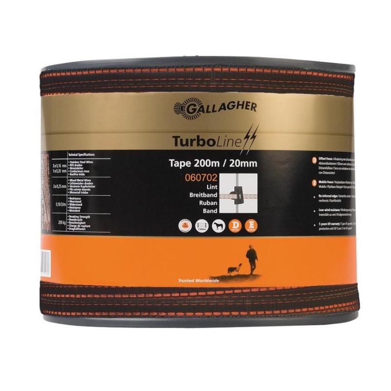 Ruban TurboLine 20mm (terra, 200 mètre) Rubans clôtures électriques