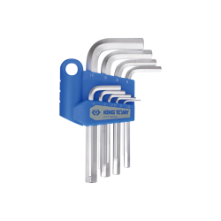 9 clés mâles 6 pans courtes métriques King Tony Tournevis, clés mâles et embouts