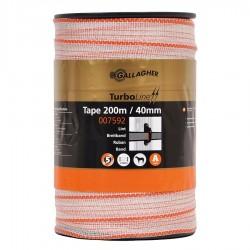 Ruban électrique TurboLine 40mm (blanc, 200 mètre) Rubans clôtures électriques