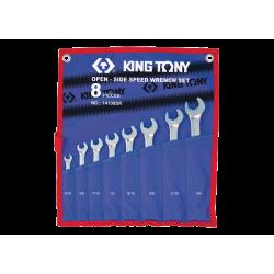 Tousse 8 clés mixtes avec cliquet dans La Fourche SpeedOpen en pouces King Tony Clés