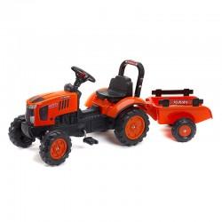 Tracteur à pédales M7171 Kubota avec remorque Tracteurs à pédales et accessoires
