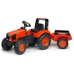 Tracteur à pédales M135GX Kubota avec remorque Tracteurs à pédales et accessoires