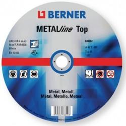 Disques à tronçonner métal MATALine 125x1.6x22.2 Berner (25 pièces) Disqueuses