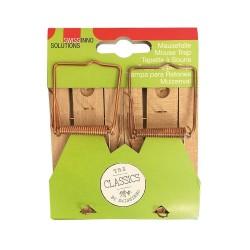 Tapette à souris en bois (2 pièges) Anti-rongeurs