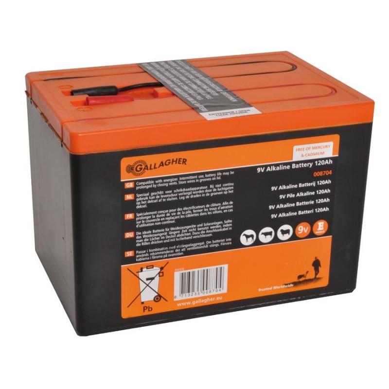 Pile 9V Powerpack 120Ah Piles de clôtures électriques