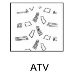 Roue complète 25x10-12 ATV jante Alu droite RTV Kubota Pneumatiques