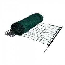 Filet lapins-/hobby, vert, pointe simple, 65cm, 50m Filets clôtures électriques