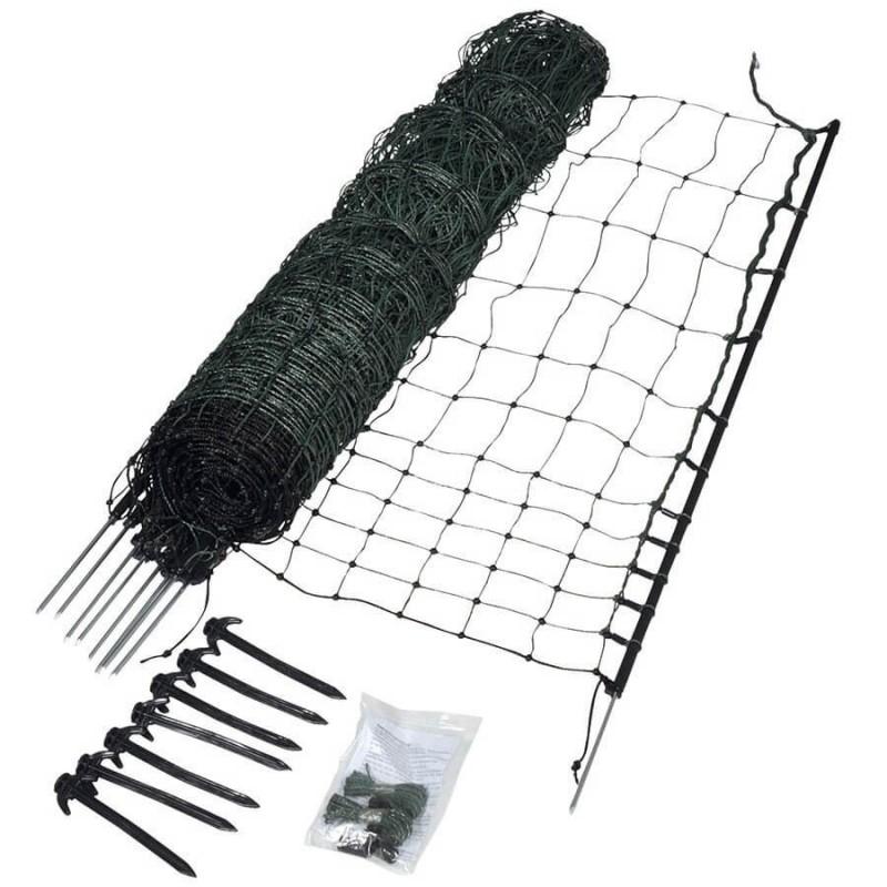 Filet volaille 25m, pointe simple, 112cm Filets clôtures électriques