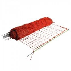 Filet volaille 50m, pointe simple, 112cm (orange) Filets clôtures électriques