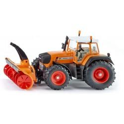 Tracteur Fendt déneigement orange Siku Tracteurs miniatures