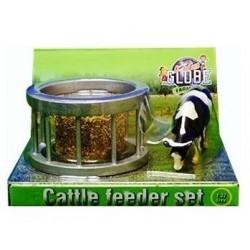 Mangeoire avec balle ronde et vache Accessoires miniatures