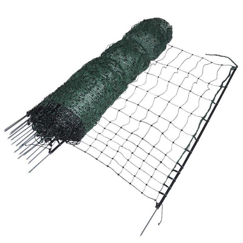 Filet volaille 50m, pointe simple, 112cm Filets clôtures électriques