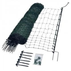 Filet volaille 50m, double pointe, 112 cm (vert) Filets clôtures électriques