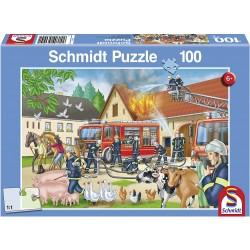 Puzzle pompier à la ferme 100 pièces Puzzles & jeux de société