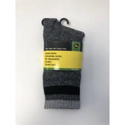 Chaussettes John Deere noires/grises Chaussettes