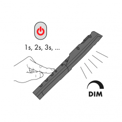 Baladeuse à LED à batterie ErgoPower Slim+ Wurth Lampes