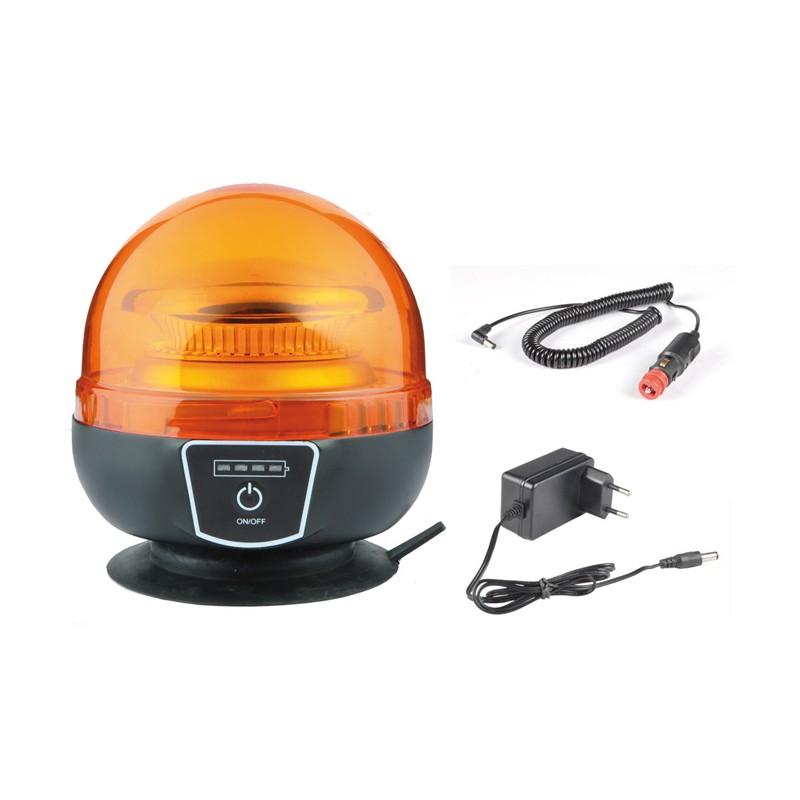 Gyrophare LED magnétique / ventouse sans fil Feux & gyrophares