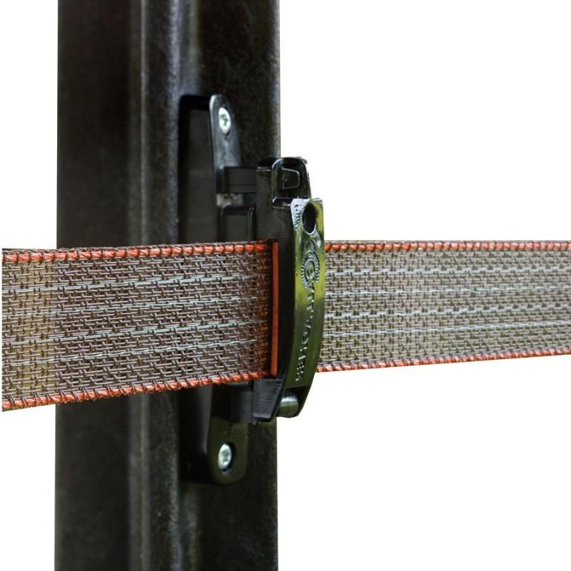 Isolateur clôture ruban Turboline (100 pcs) Isolateurs rubans