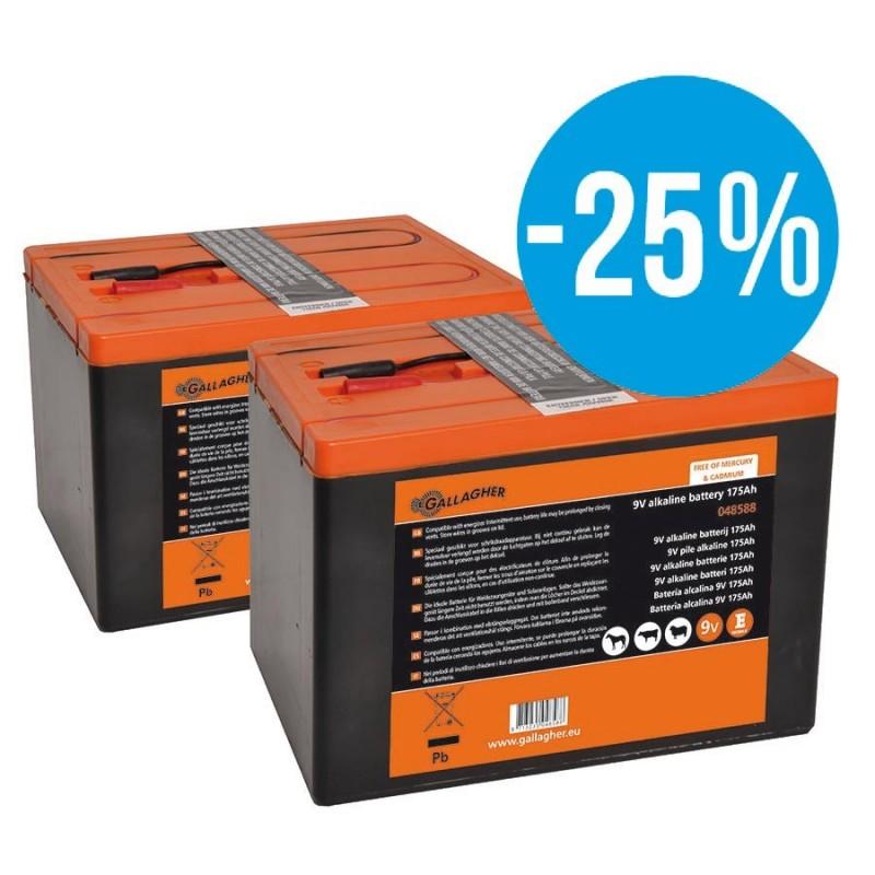 Paquet DUO Pile 9V 2x 175Ah Piles et batteries