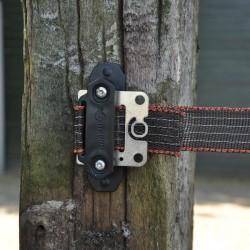 Isolateur clôture ruban de coin Turboline (Plaque) Isolateurs rubans