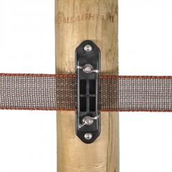 Isolateur clôture ruban de coin Turboline avec écrou papillon (5 pcs) Isolateurs rubans