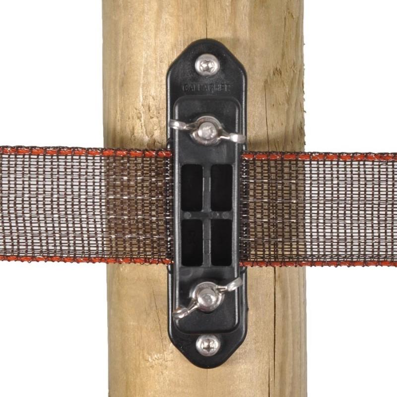Isolateur clôture ruban de coin Turboline avec écrou papillon (30 pcs) Isolateurs rubans