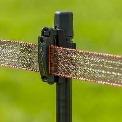 Clip Ruban TurboLine pour piquet Line post (40mm) (12) Isolateurs rubans