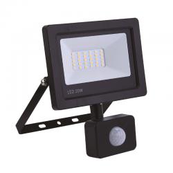 Projecteur LED extra plat noir avec détecteur 20W 1600LM Projecteurs