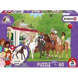 Puzzle 60 pièces Réunion du Club devant la caravane Schmidt Puzzles & jeux de société