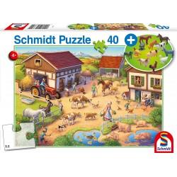 Puzzle 40 pièces A la ferme Schmidt Puzzles & jeux de société