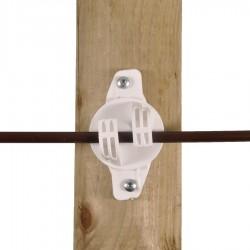 Isolateur de soutien W Super, blanc (25 pcs) Isolateurs piquets permanents