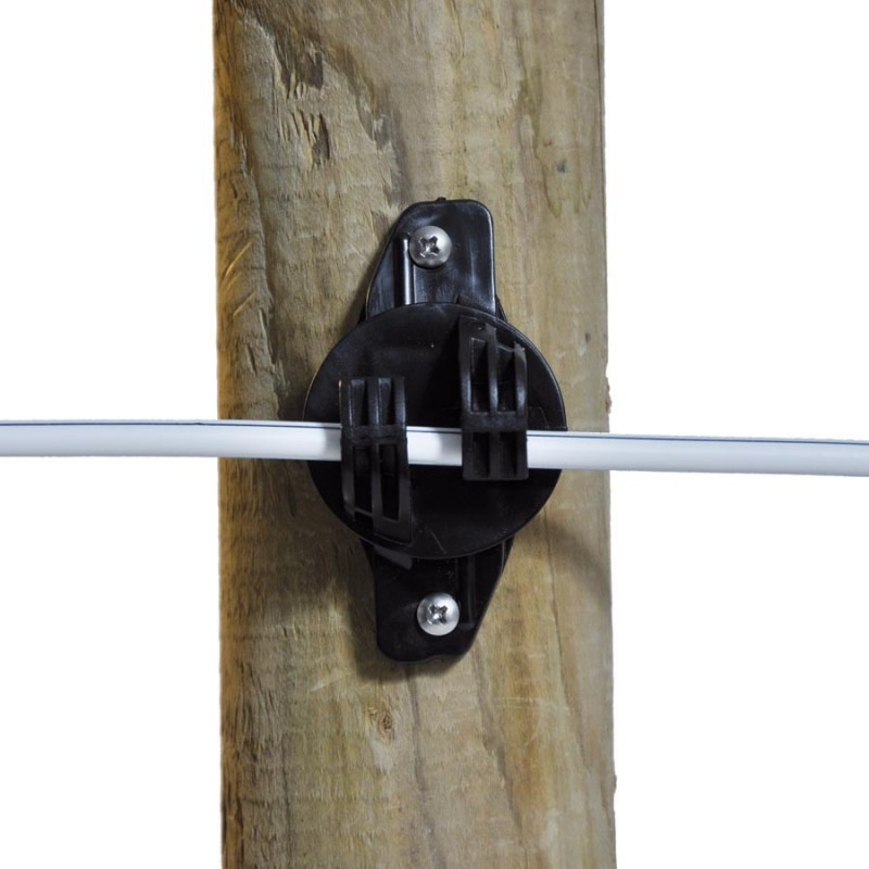Isolateur de soutien W Super, noir (25 pcs) Isolateurs piquets permanents