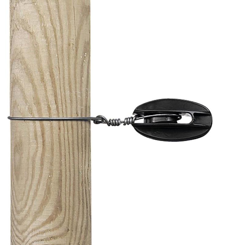 Isolateur de coin, noir (5 pcs) Isolateurs piquets permanents