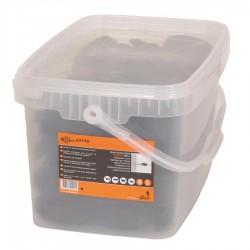 Isolateur de coin, noir (100 pcs) Isolateurs piquets permanents