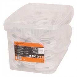 Isolateur de coin Super, blanc (100 pcs) Isolateurs piquets permanents