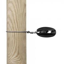 Isolateur de coin renforcé (noir, 100 pcs) Isolateurs piquets permanents
