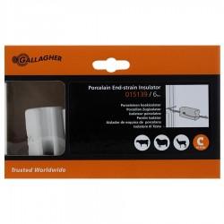 Isolateur porcelaine, blanc (6 pcs) Isolateurs piquets permanents