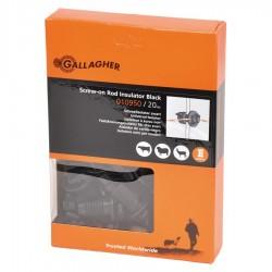 Isolateur à écrou, noir ø4-10mm (20 pcs) Isolateurs piquets mobiles