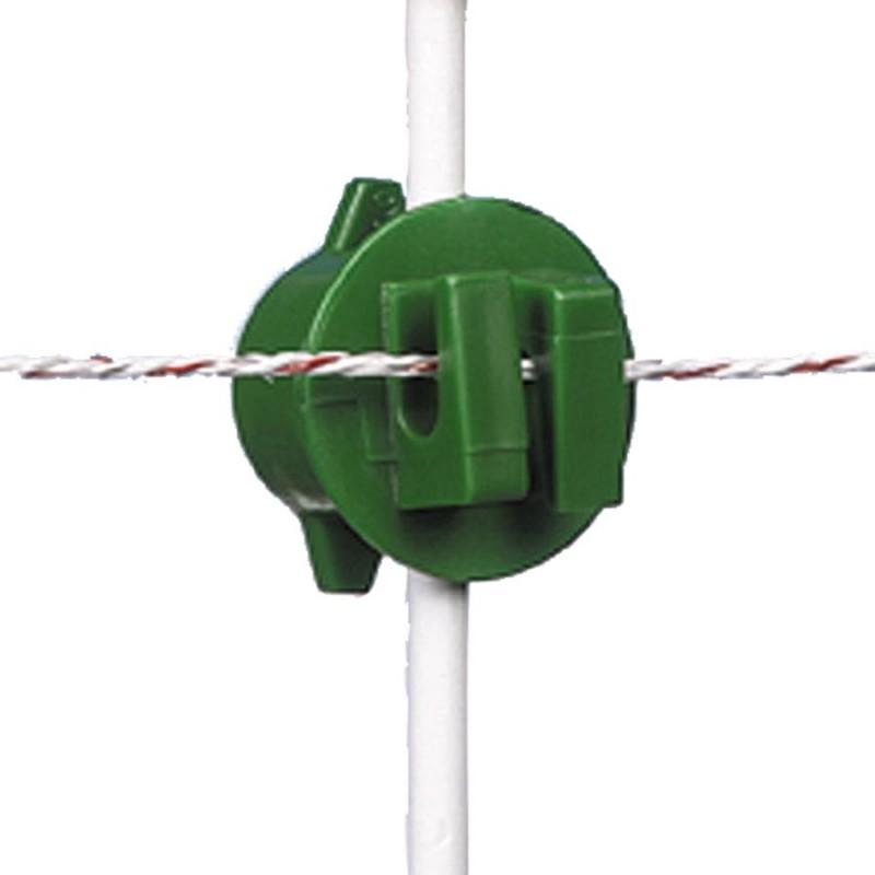 Isolateur à écrou, vert ø6-14mm (20 pcs) Isolateurs piquets mobiles