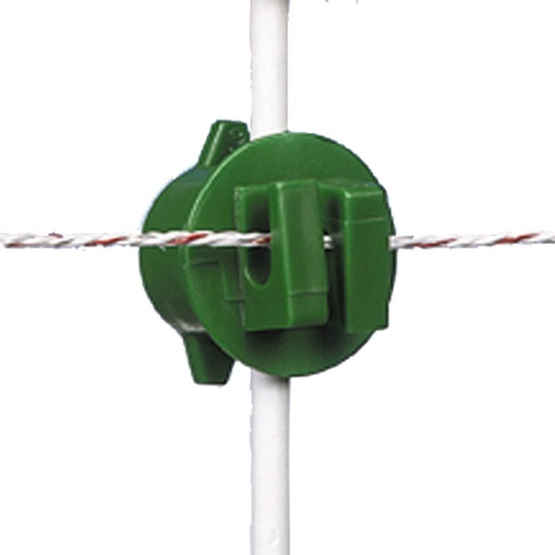 Isolateur à écrou, vert ø6-14mm (250 pcs) Isolateurs piquets mobiles