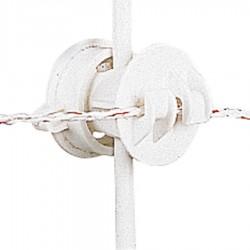Isolateur à écrou, blanc ø6-16mm (10 pcs) Isolateurs piquets mobiles