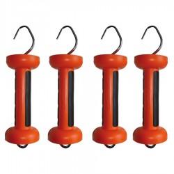 Poignée bi-matière orange cordon (4 pcs) Portes de clôtures