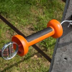 Poignée bi-matière orange ruban Portes de clôtures