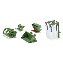 Set d'accessoires pour chargeur frontal Accessoires miniatures