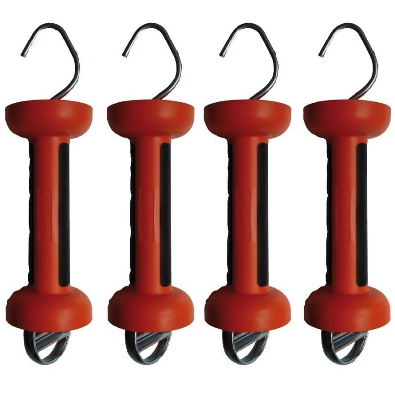 Poignée bi-matière orange ruban (4 pcs) Portes de clôtures