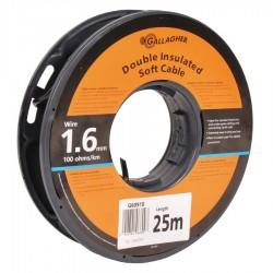Câble de terre 1,6mm souple, rouleau de 25m, 100 Ohm/1km Mise à la terre